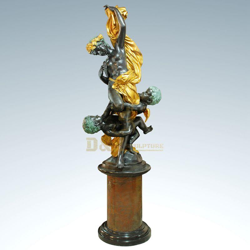 Famous garden woman statue bronze beauty human body sculpture