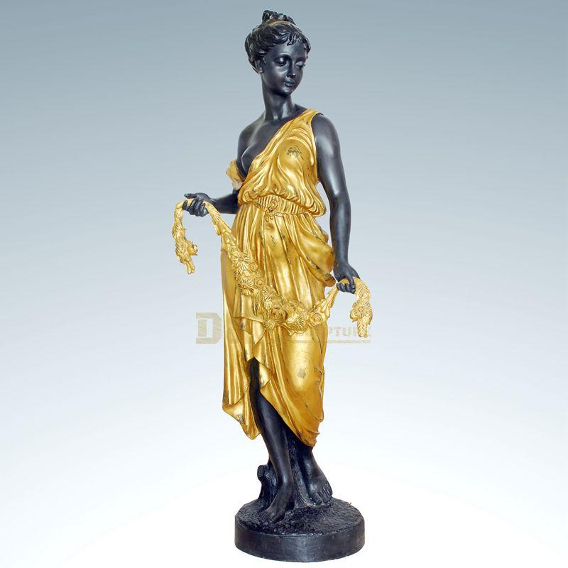 China Supplier Garden Statue Bronze Nude Sculpture Woman