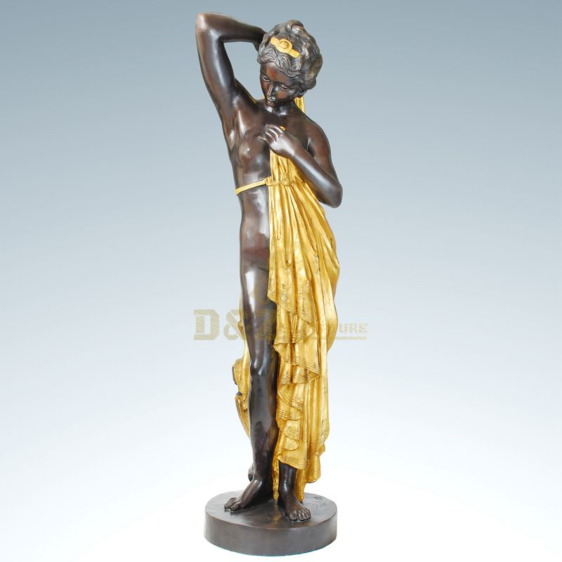 Modern Garden Decoration Bronze Woman Sculpture