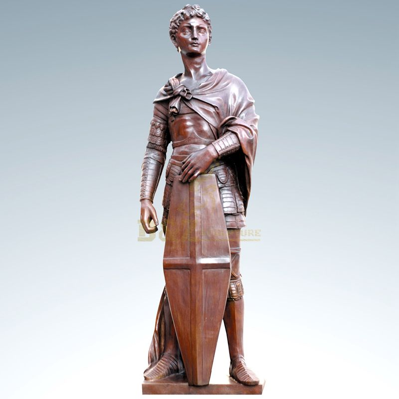 Modern garden decoration soldier bronze sculpture