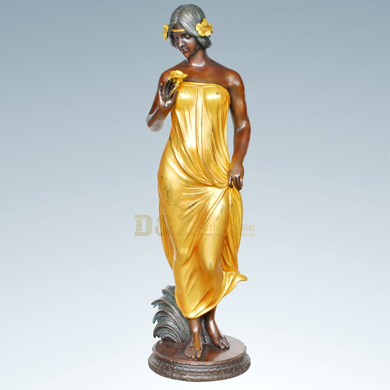 Highly Polished Famous Female Statues Nude Bronze Woman Sculpture