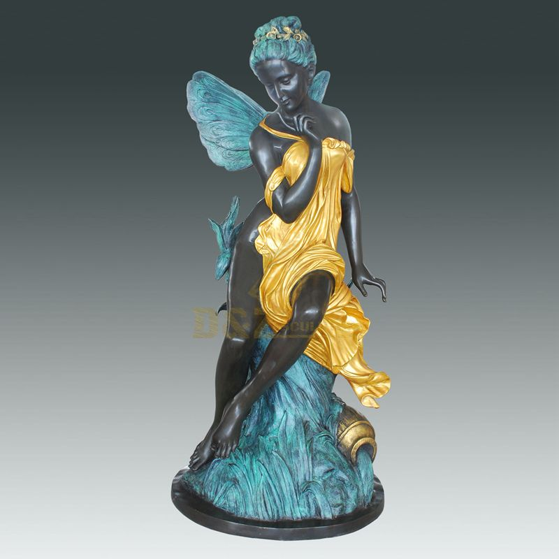 China Manufacturer Modern Art Bronze Abstract Woman Angel Sculpture