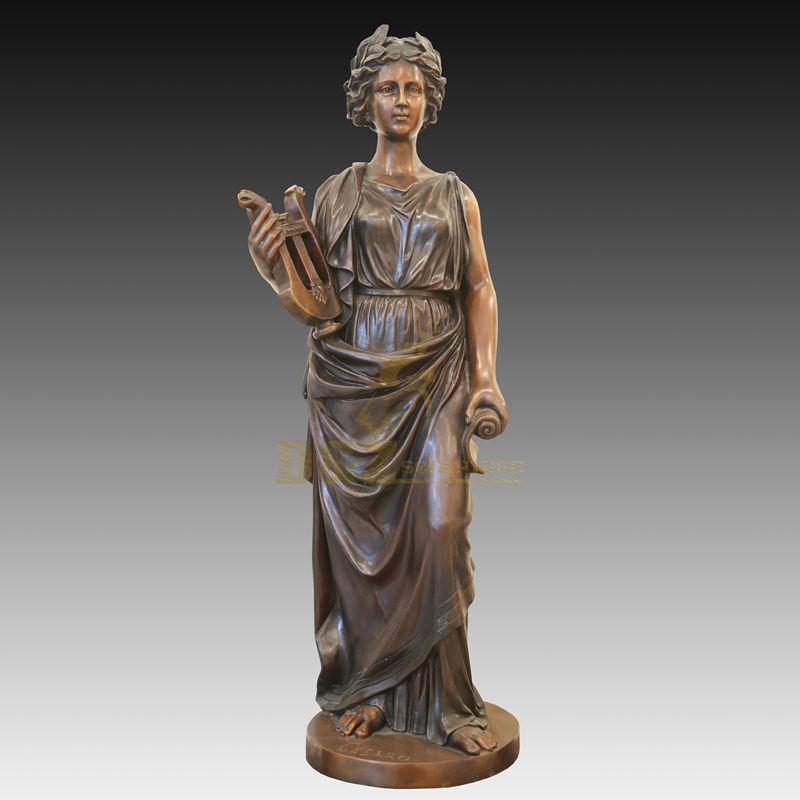 Abstract Art Decoration Metal Brass Woman Sculpture