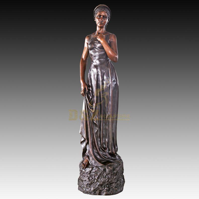 Outdoor Decoration Bronze Woman Statue