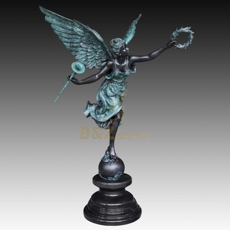 Roman Antique Women Bronze Angel Sculpture