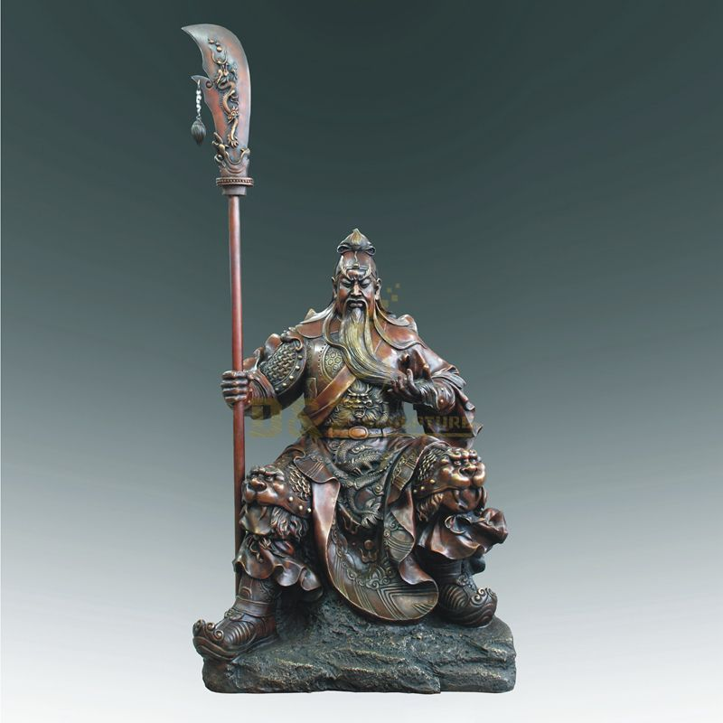Chinese Feng Shui Craft Bronze Guan Yu Sculpture