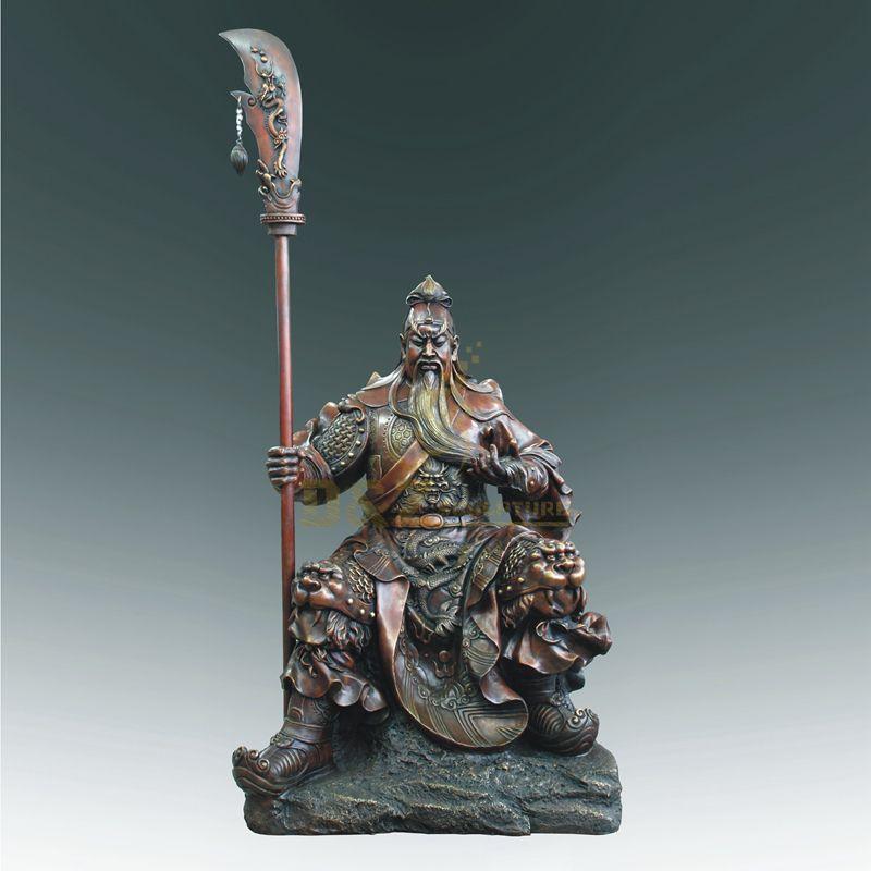 Chinese Feng Shui Craft Bronze Guan Yu Sculpture