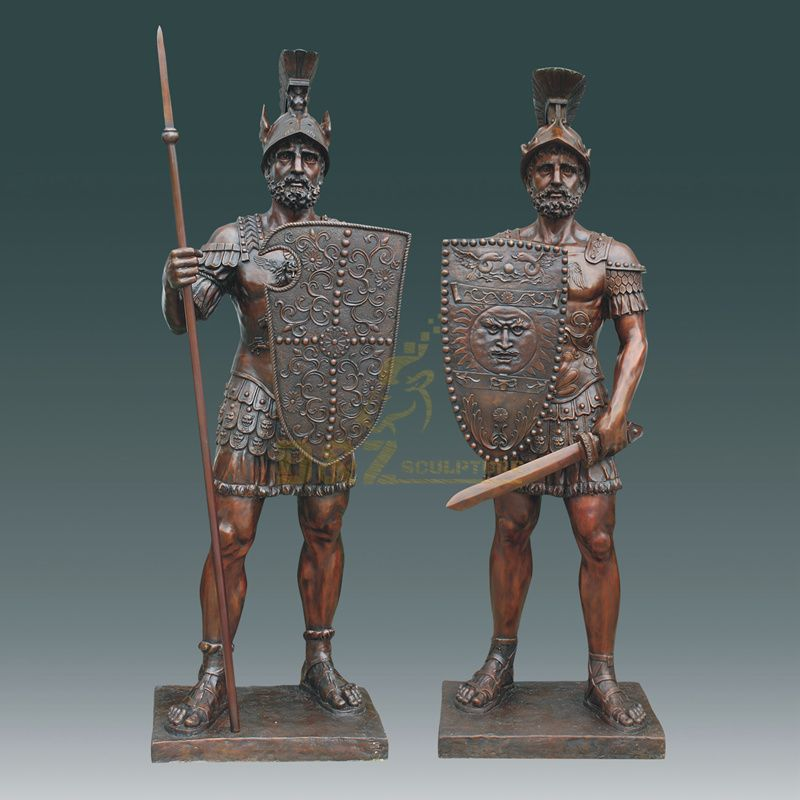 Home Decoration Life Size Soldiers Bronze Casting Statue