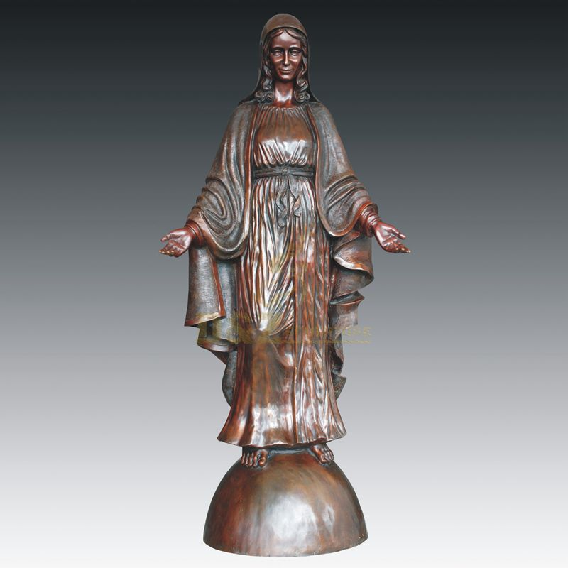 Lady of Grace Statue Santo Maria bronze Mary sculpture Lady of Miracle