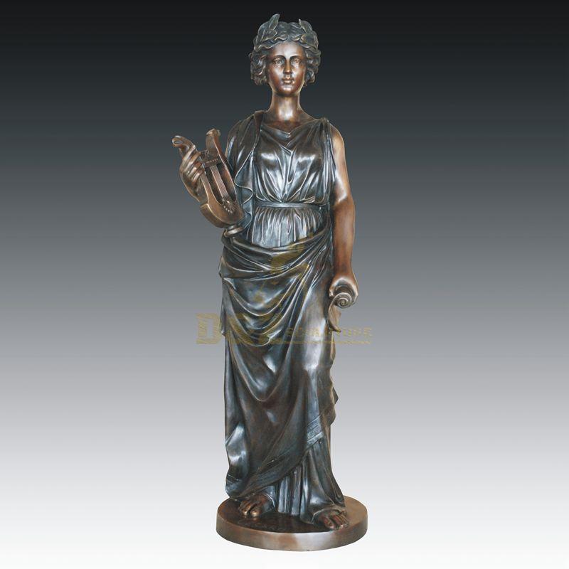 Modern Home Decoration Bronze Figure Sculpture Woman Statue