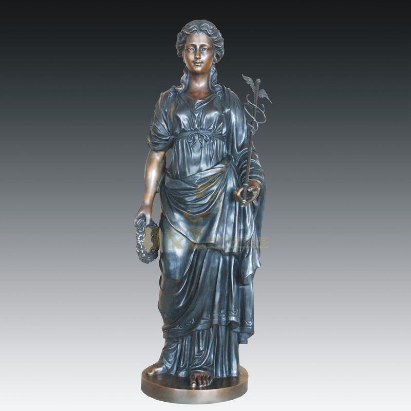 Modern garden decoration bronze woman sculpture lady statue