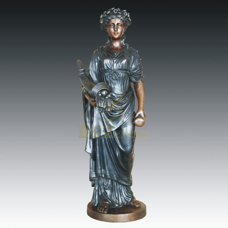 Chinese Bronze Woman Figure Abstract Sculpture