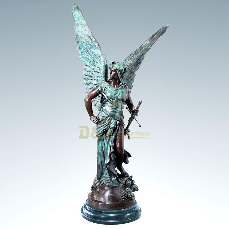 China Factory Garden Bronze Angel Life Size Sculptrue