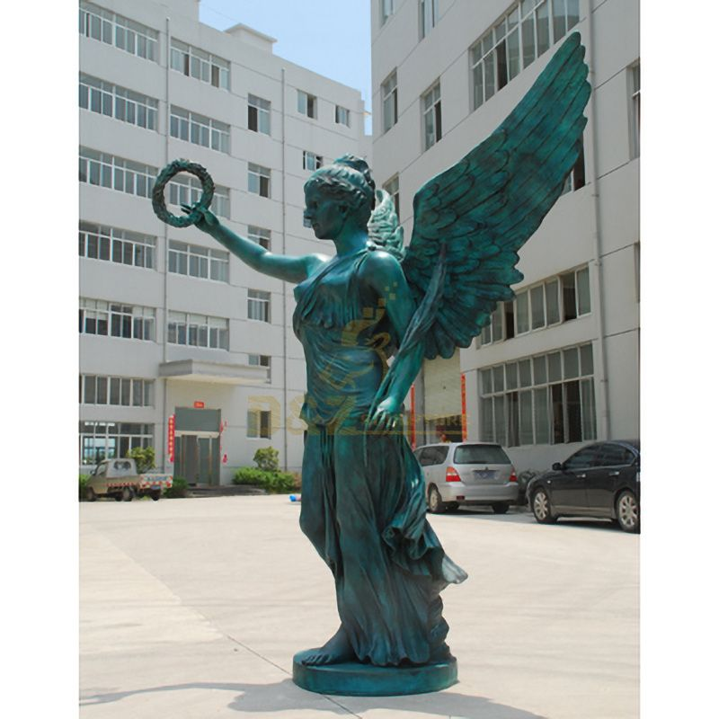 Outdoor garden metal decoration bronze angel sculptrue