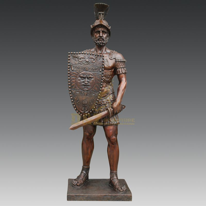 Life Size Copper Garden Soldier Statue Man Sculpture