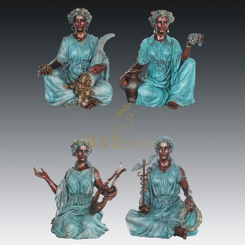 Bronze Craft Woman Statue Musical Sculpture For Sale