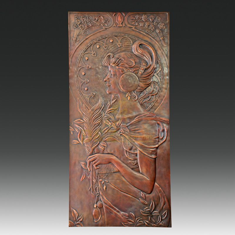Custom Bronze Woman Relief Wall Sculptures