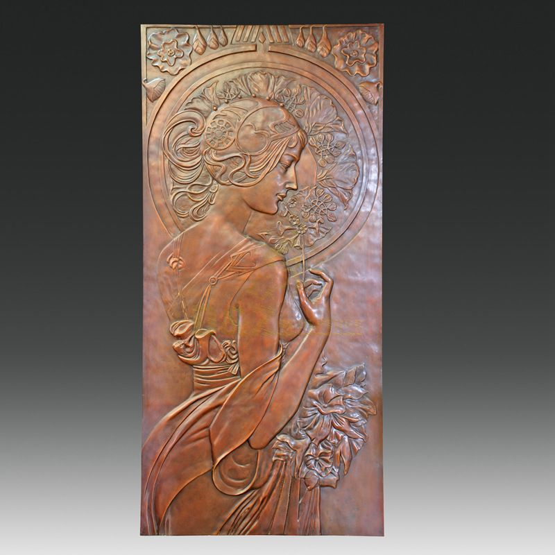High Quality Bronze Woman Relief Casting Sculpture