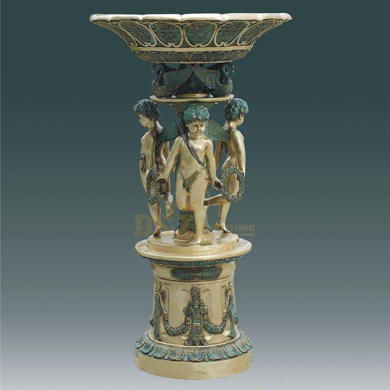 Outdoor Bronze Large Fountain Sculpture With Statue
