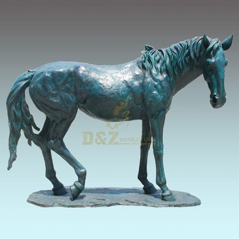 Cute Animal Home Decoration Bronze Horse Sculpture Ornament Statue