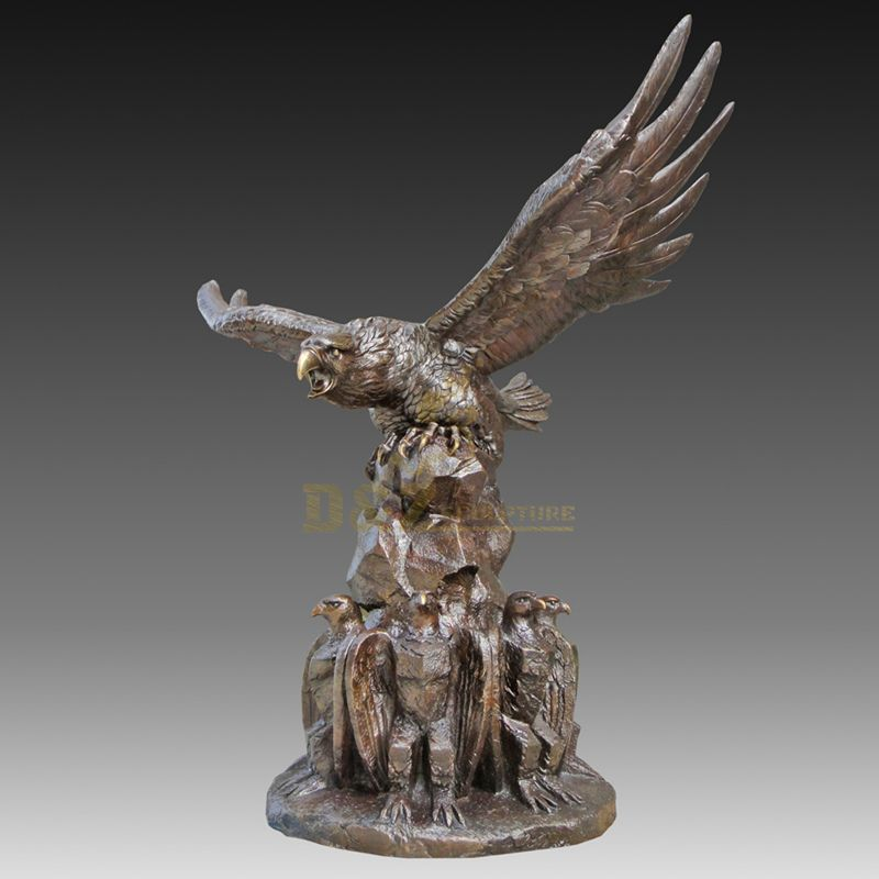 Indoor Animal Statue Bronze Eagle Sculpture
