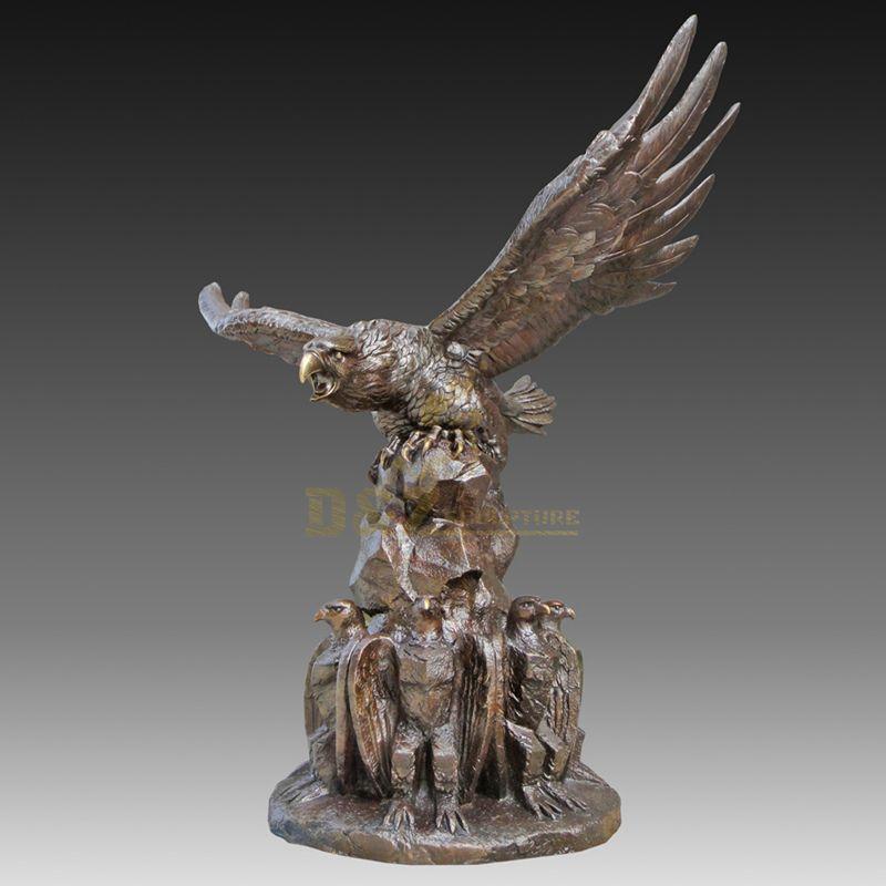 Indoor Animal Statue Bronze Eagle Sculpture