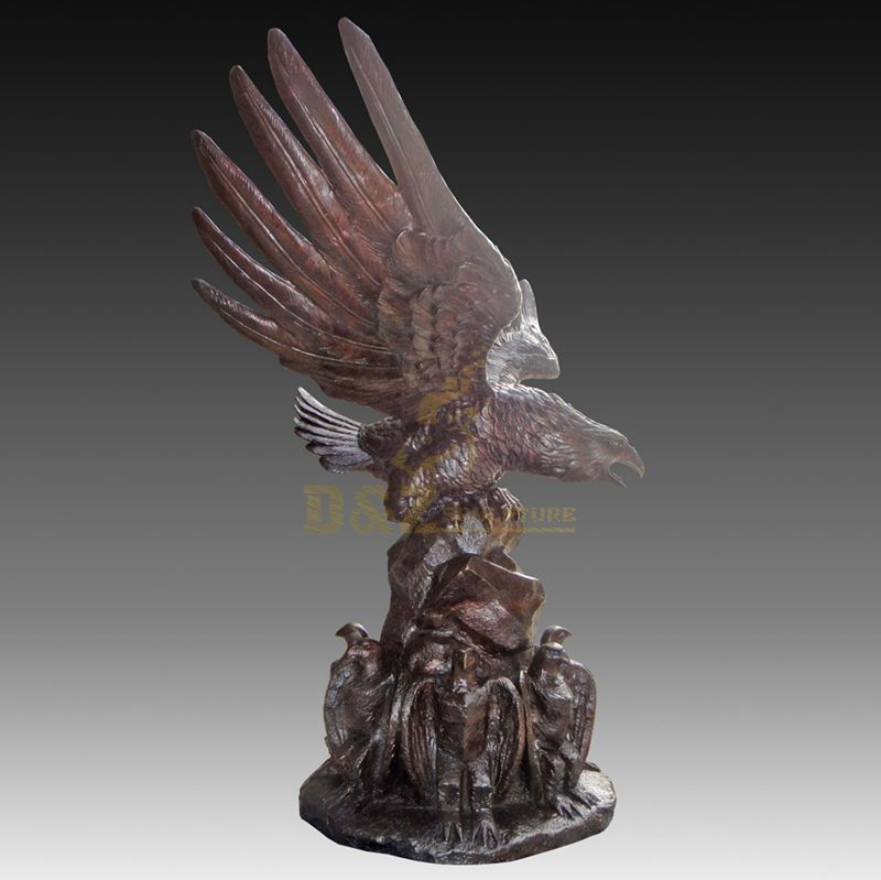 Garden Decoration Eagle Bronze Animal Sculpture