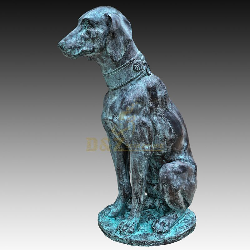 China factory modern home decor brass dog animal sculpture