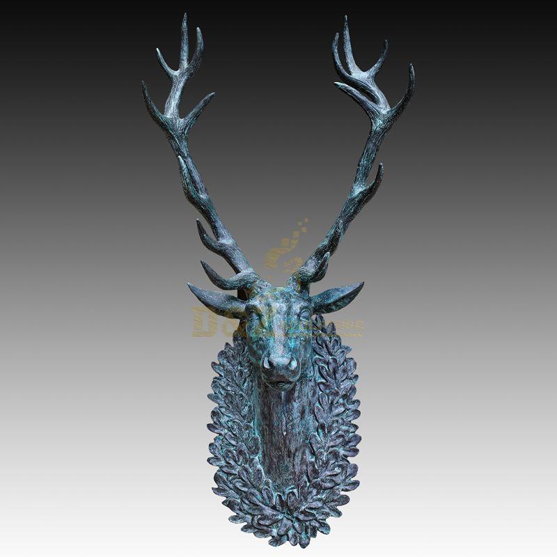 Popular classic beautiful bronze deer head animal sculpture