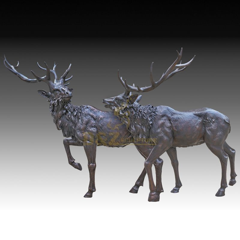 Morden Home Decor Bronze Deer Animal Sculpture