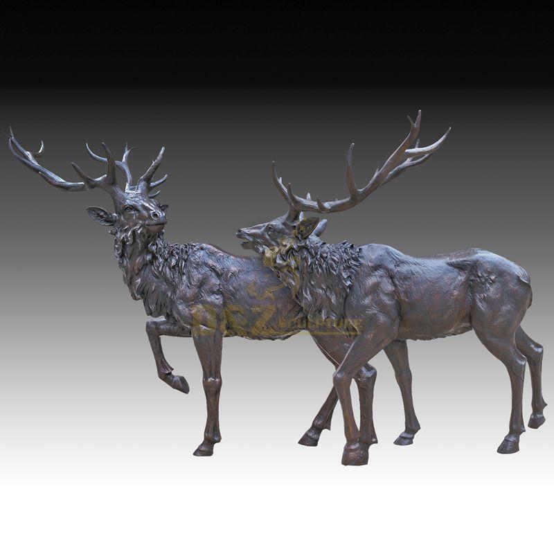 Morden Home Decor Bronze Deer Animal Sculpture
