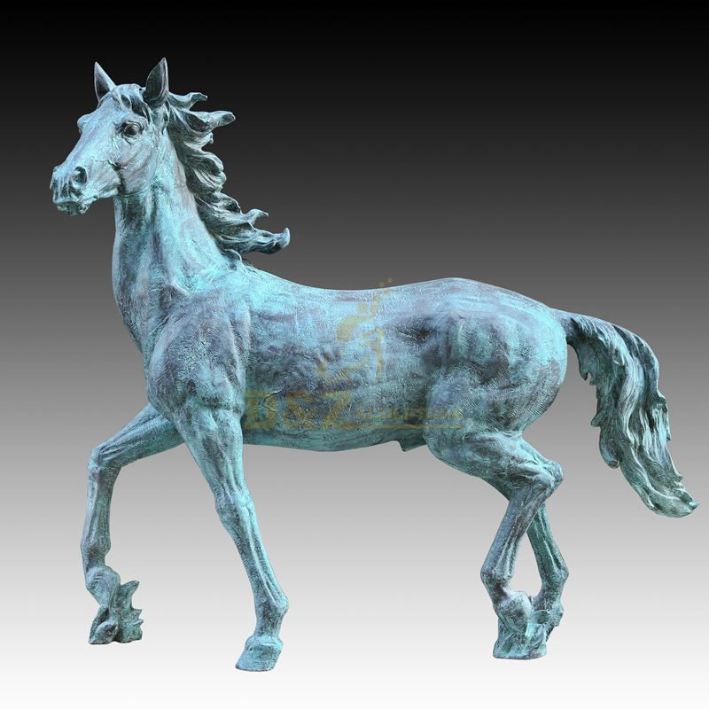 Outdoor Garden Bronze Horse Animal Statue