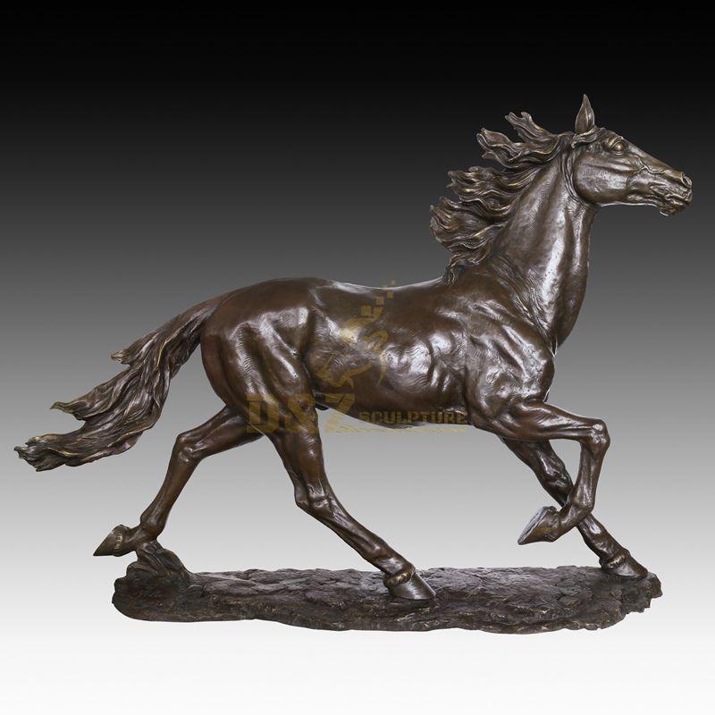Life size copper metal antique brass bronze horse sculpture statue for garden