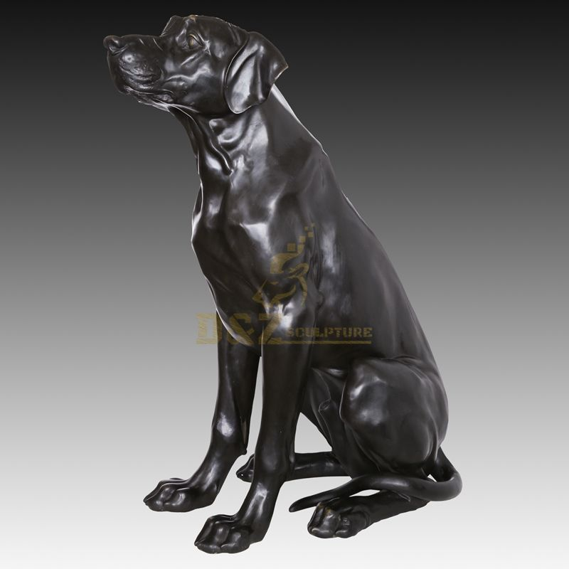 Home Decorative Bronze Animal Dog Sculpture