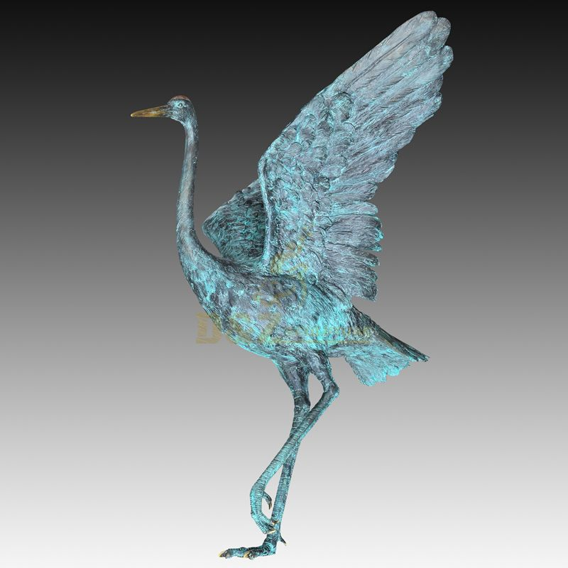 Outdoor large animal cranes sculptures for garden decoration