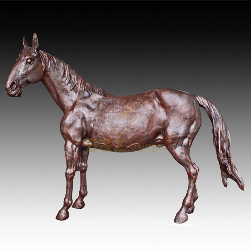 Custom bronze horse