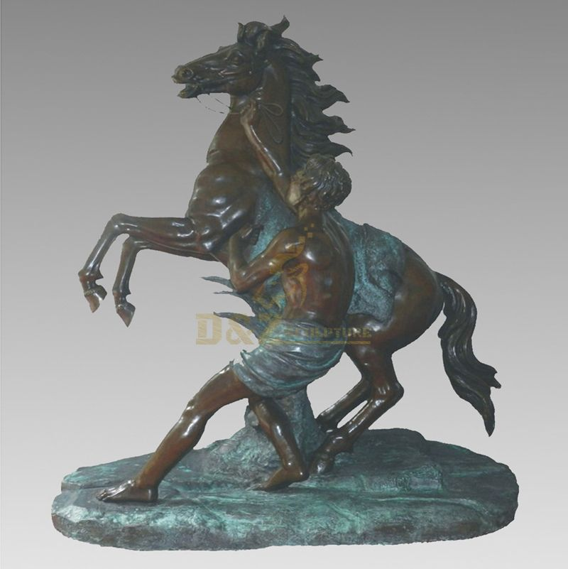 Outdoor Sculpture Bronze Standing Horse Statue Life Size Horse Metal Sculpture