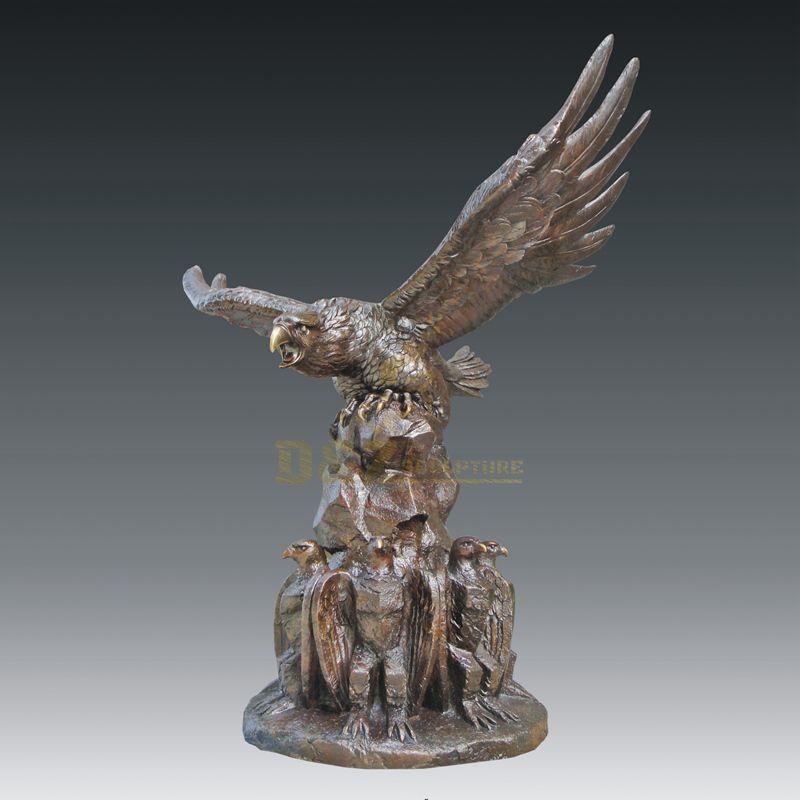 Life Size bronze casting phoenix sculpture eagle statue