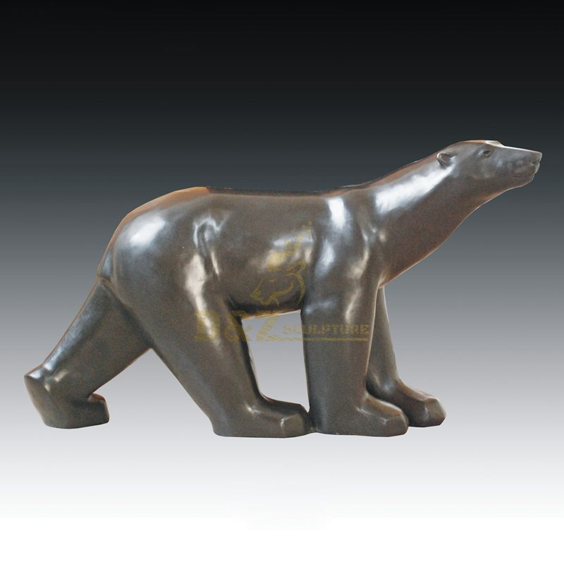 Life Size Metal Art Modern Bronze Bear Statue