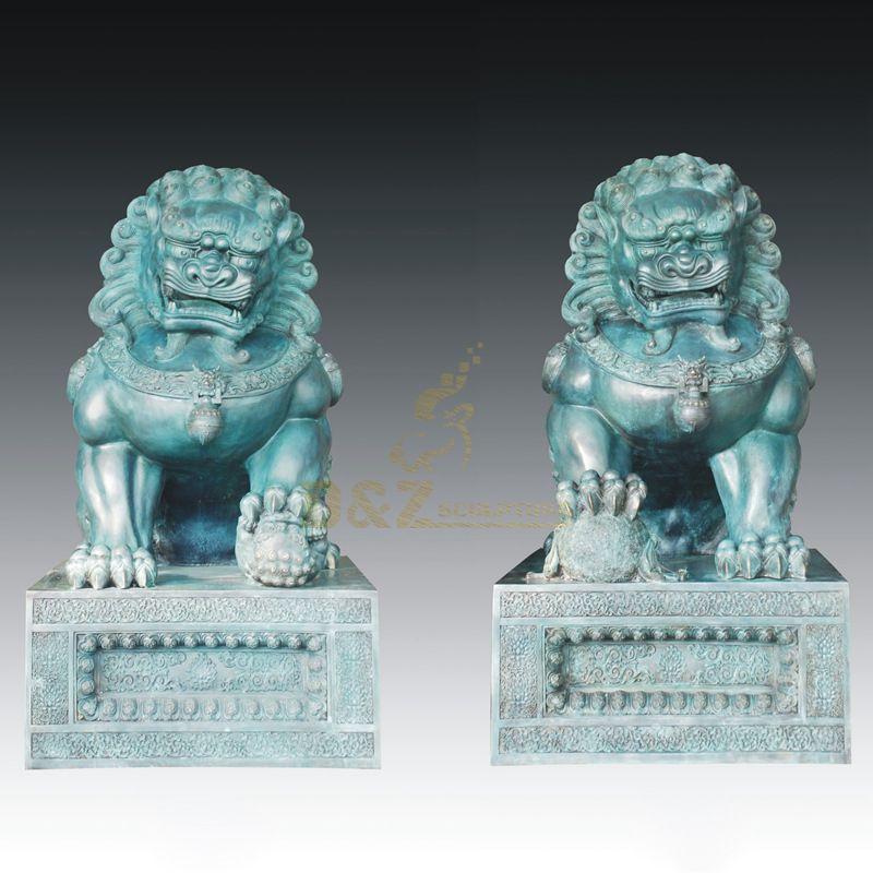 Decorative Outdoor Bronze Lion Sculpture animal state