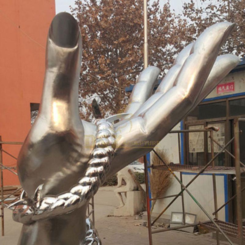 Garden Abstract Bronze Hand Metal Sculpture