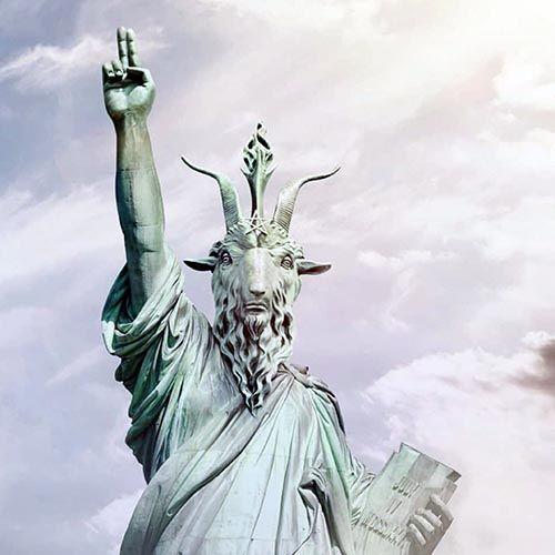Famous Bronze Sculpture Goat Head Satan Statue