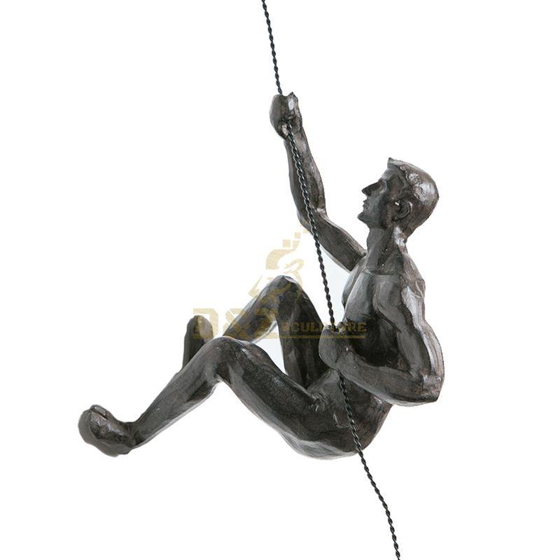 Modern Art Decorative Casting Bronze Climbing Man Wall Sculpture