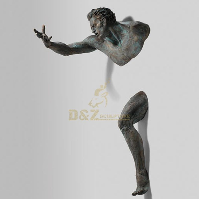 High Quality Wall Man Abstract Figurative Sculptures Embedded