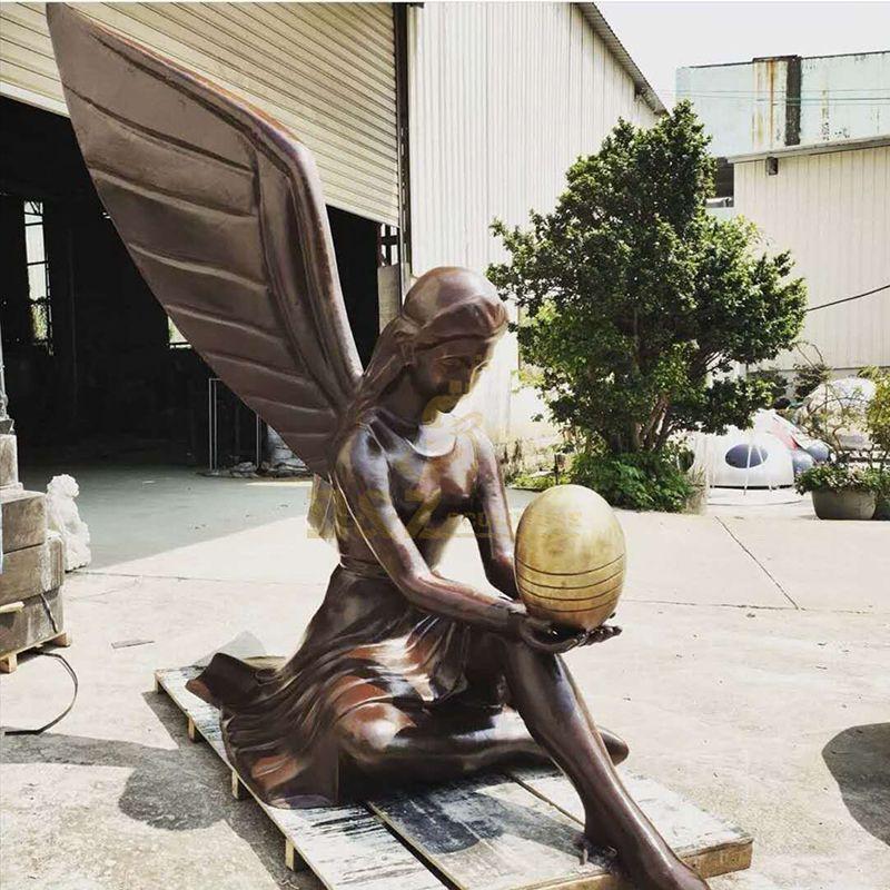 Bronze Statues Of Angels Garden Decor