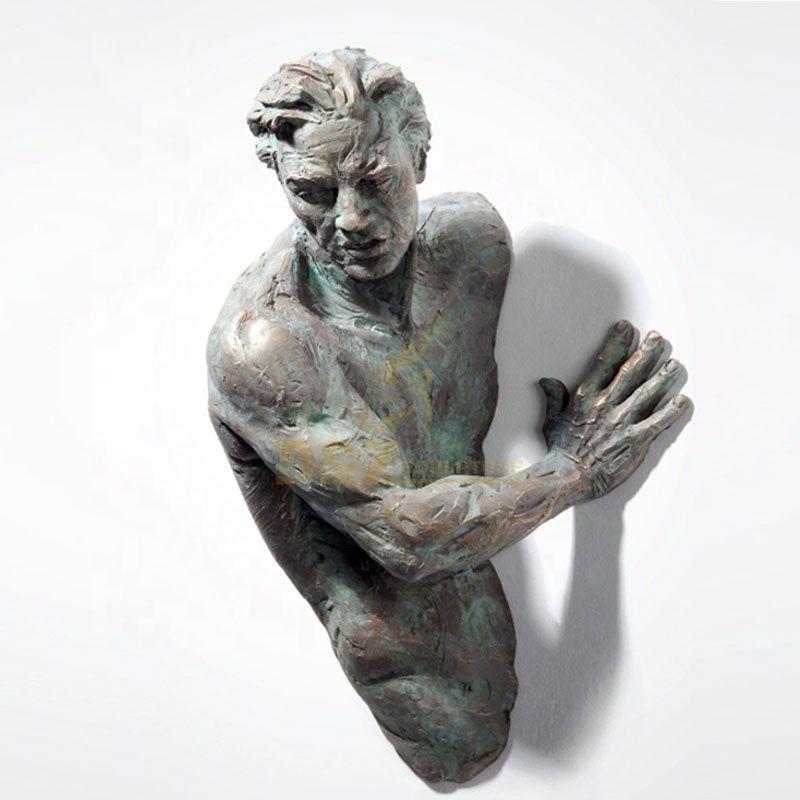 Abstract bronze statue metal wall art sculpture
