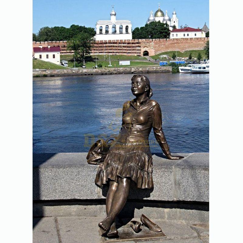Life Size Figure Sculpture Bronze Girl Sculpture