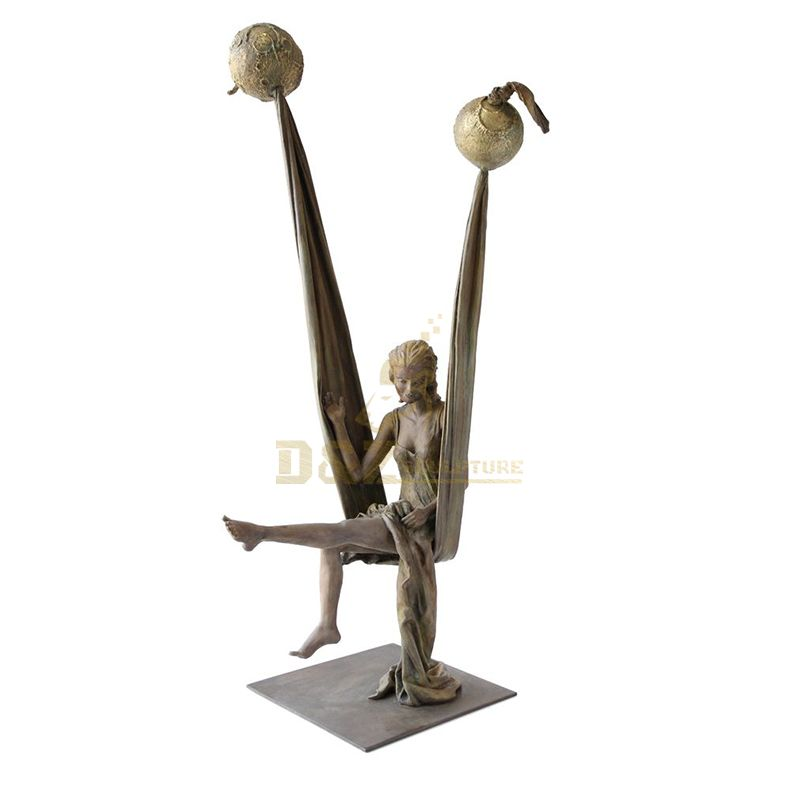 Garden statue molds Bronze Girl Figure Sculpture