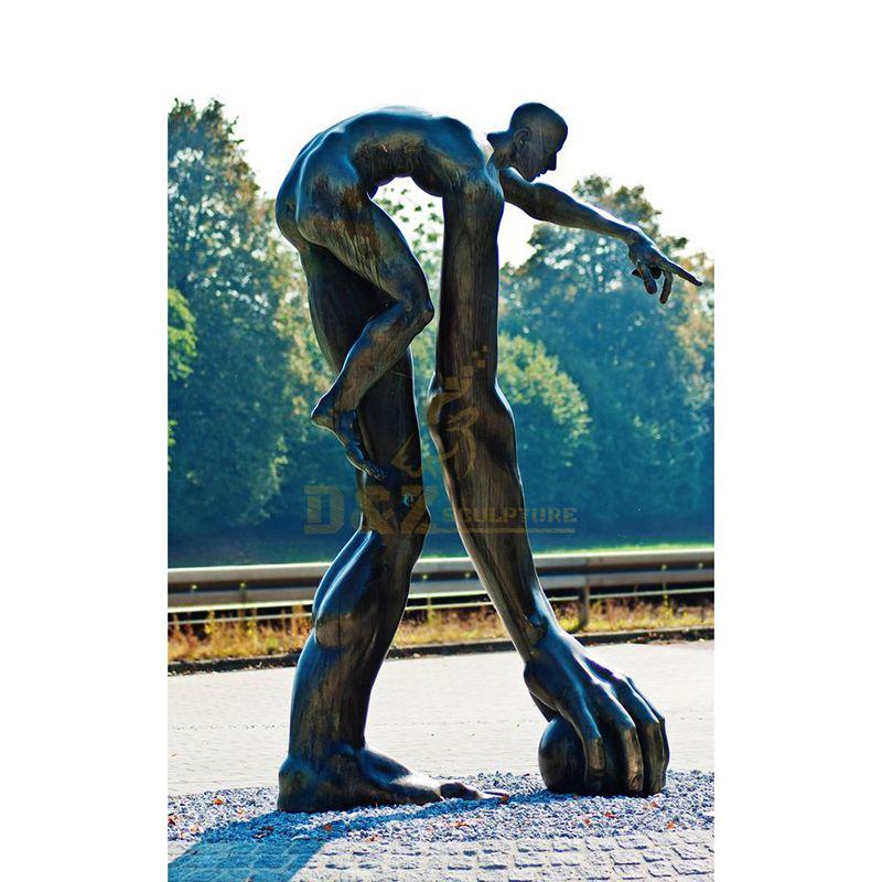 Garden Nude Abstract Bronze man figure statue sculpture