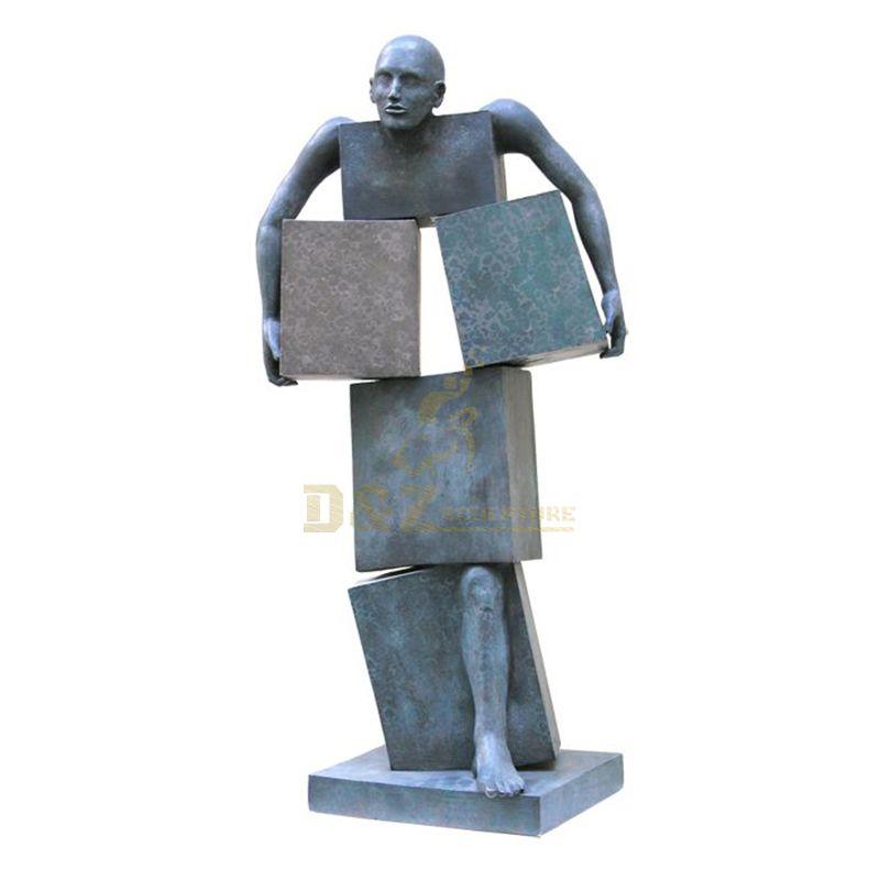 Customized factory made figure statue bronze man sculpture